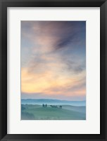 Framed Capella di Vitaleta at Dawn - Tuscany II