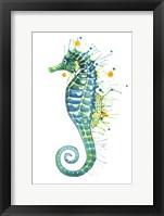 Framed Green Seahorse