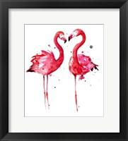 Framed Pink Flamingos