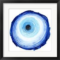 Framed Tree Ring - Indigo