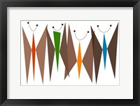 Framed Butterflies - Browns