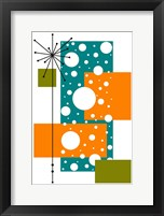 Framed Lacuna - Aqua and Orange