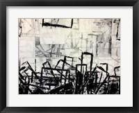 Framed Black & White Abstract