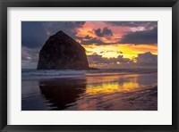 Framed Cannon Beach Sunset