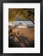 Framed Crescent Lake Pier