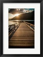 Framed Crescent Lake Sunset