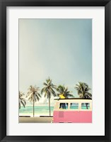 Framed Surf Bus Pink