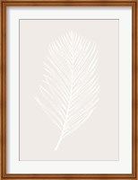 Framed White Leaf
