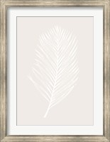 Framed White Leaf