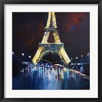 Framed Eiffel Rain