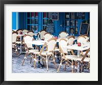 Framed Blue Cafe
