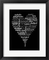 Framed Translation of Love (black)