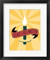 Framed Black Lives Matter - Candle