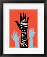 Framed Black Lives Matter - Hands