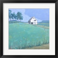 Framed Barn in Midsummer Light