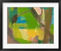 Framed Lime Yellow Fragment 10
