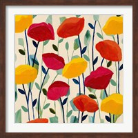Framed Cheerful Poppies