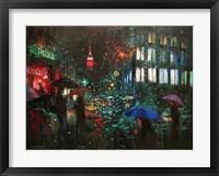 Framed Night Rain in NY