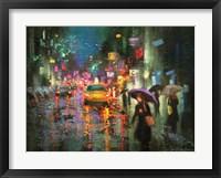 Framed Night Rain in Village