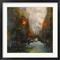 Framed Rainy in South Manhattan