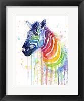 Framed Rainbow Zebra