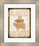 Framed Balanced Breakfast Two