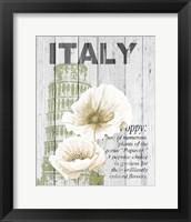 Framed Italy Poppies