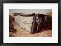 Framed White Boat II