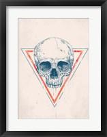 Framed Skull in Triangle No. 2