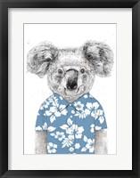Framed Summer Koala (Blue)