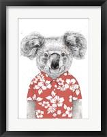 Framed Summer Koala (Red)