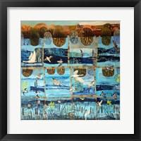 Framed Blue Island