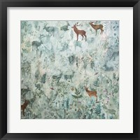 Framed Stags in Mist