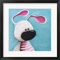 Framed Pink Bunny