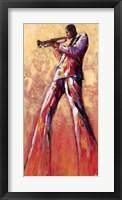 Framed Trumpet Solo
