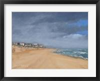 Framed Beach Houses and Surf