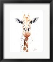 Framed Giraffe Watercolor