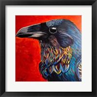 Framed Glistening Raven