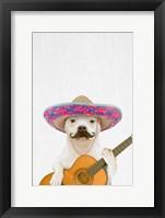 Framed Dog Guitarist