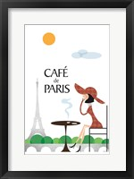 Framed Cafe de Paris
