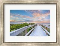 Framed Walk To Sunset Beach