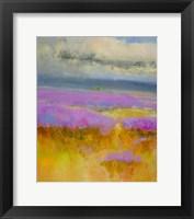 Framed Field of Lavenders 1