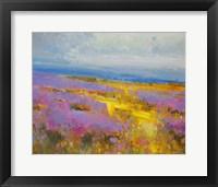 Framed Field of Lavenders 2