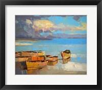 Framed Fishing Boats