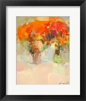 Framed Vase of Yellow Flowers 1