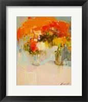 Framed Vase of Yellow Flowers 2
