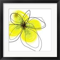 Framed Yellow Petals Four