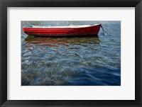 Framed Red Boat