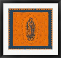 Framed Orange and Blue Mary