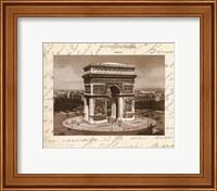 Framed L'arc De Triomphe